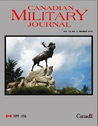 Canadian Military Journal №3 2016