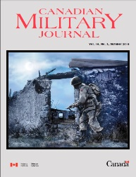 Canadian Military Journal №3 2018