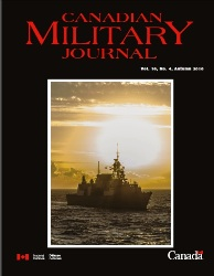 Canadian Military Journal №4 2016