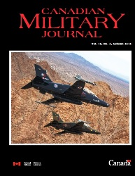 Canadian Military Journal №4 2018